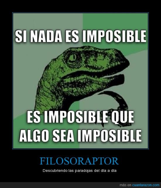 filosoraptor. subjuntivo