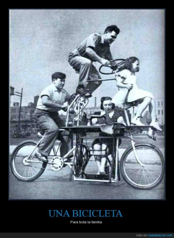 una bicicleta para toda la familia