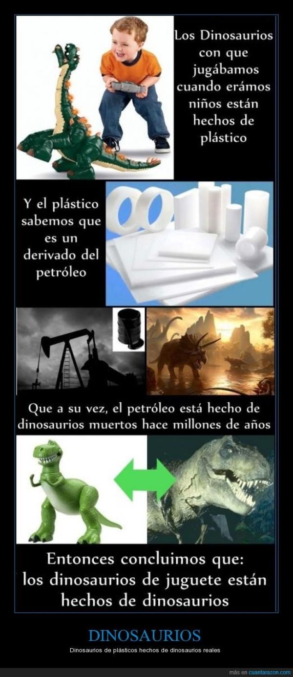 humor,son de ellos mismos,Dinosaurios,híbridos?,plástico,petróleo,origen