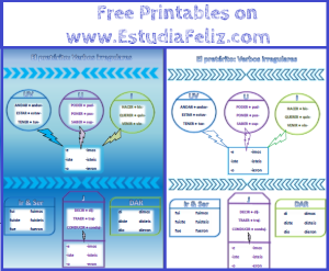Irregular preterites free printables