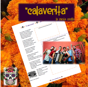 """Calaverita"" by La Santa Cecilia: Día de muertos themed song activity"