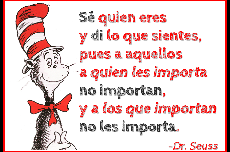 Dr. Seuss Sé quien eres